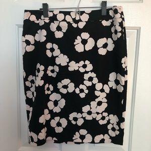 LOFT floral pencil skirt Sz 10